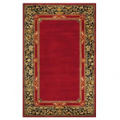 Home Decorators Collection Churchill Red 8 ft. x 11 ft. Area Rug