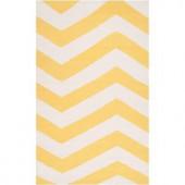 Artistic Weavers Calabozo Sunshine Yellow 2 ft. x 3 ft. Flatweave Accent Rug