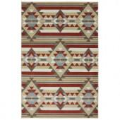 Mohawk Home Navajo Stripe Kingsgold 6 ft. 6 in. x 10 ft. Area Rug