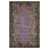Kas Rugs Floral Border Lavender 8 ft. x 11 ft. Area Rug