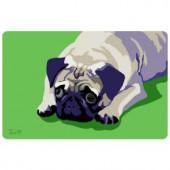 Bungalow Flooring Printed Pug 8 17.5 in. x 26.5 in. Mat