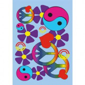 LA Rug Inc. Fun Time Lovely Peace 19 in. x 29 in. Accent Rug