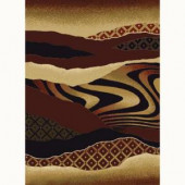 United Weavers Mojave Auburn 5 ft. 3 in. x 7 ft. 2 in. Contemporary Area Rug