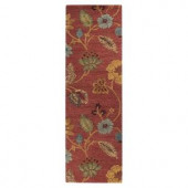 Home Decorators Collection Portico Red 2 ft. 6 in. x 10 ft. Runner