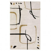 Home Decorators Collection Fragment Snow 3 ft. 6 in. x 5 ft. 6 in. Area Rug