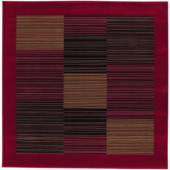 Couristan Everest Hampton's Red 7 ft. 10 in. x 7 ft. 10 in. Square Area Rug