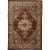 Rizzy Home Bellevue Collection Rust and Tan 5 ft. 3 in. x 7 ft. 7 in. Area Rug