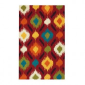 Home Decorators Collection Ella Red 1 ft. 8 in. x 2 ft. 6 in. Area Rug
