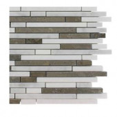 Splashback Tile Windsor 1/4 in. x Random Alaskan Blend Pattern Marble Mosaic Tiles - 6 in. x 6 in. Tile Sample