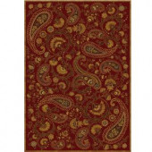 Home Dynamix Paisley Red 7 ft. 8 in. x 10 ft. 4 in. Area Rug