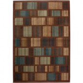 Rizzy Home Bellevue Collection Rust and Blue 7 ft. 10 in. x 10 ft. 10 in. Area Rug