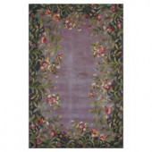 Kas Rugs Floral Border Lavender 2 ft. x 3 ft. Area Rug