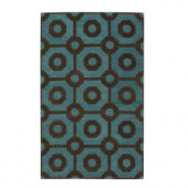 Home Decorators Collection Crystal Brown/Green 3 ft. 6 in. x 5 ft. 6 in. Area Rug