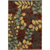 Nourison Rug Boutique Berry Branch Forest 5 ft. x 7 ft. 6 in. Area Rug