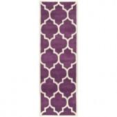Safavieh Chatham Purple/Ivory 2.3 ft. x 7 ft. Runner