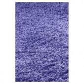 Kas Rugs Cushy Shag Purple 2 ft. 3 in. x 3 ft. 9 in. Area Rug