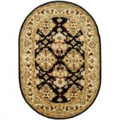 Safavieh Heritage Black/Ivory 4 ft. x 6 ft. Oval Area Rug