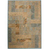 Rizzy Home Bellevue Collection Beige Swirl 5 ft. 3 in. x 7 ft. 7 in. Area Rug