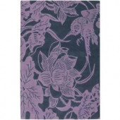Chandra Counterfeit Charcoal/Purple 5 ft. x 7 ft. 6 in. Indoor Area Rug
