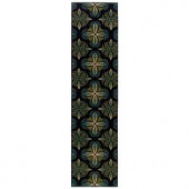 Oriental Weavers Camille Daly Blue 1 ft. 10 in. x 7 ft. 6 in. Runner