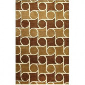BASHIAN Chelsea Collection Rolls Chocolate 2 ft. 6 in. x 8 ft. Area Rug