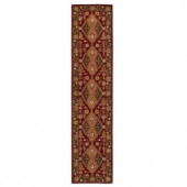 Home Decorators Collection Menton Red and Dark Brown 2 ft. 3 in. x 10 ft. Runner