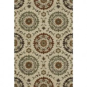Loloi Rugs Fairfield Life Style Collection Ivory Sage 7 ft. 6 in. x 9 ft. 6 in. Area Rug