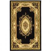 Safavieh Lyndhurst Black/Ivory 3.25 ft. x 5.3 ft. Area Rug