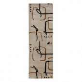Home Decorators Collection Fragment Snow 2 ft. 6 in. x 8 ft. Runner