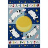 LA Rug Inc. Olive Kids Sleepy Sheep Multi Colored 39 in. x 58 in. Area Rug