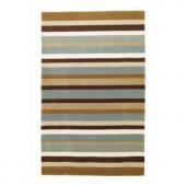 Kas Rugs Vertical Stripe Mocha 2 ft. 6 in. x 4 ft. 2 in. Area Rug