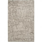 Rizzy Home Fusion Beige 5 ft. x 8 ft. Print Area Rug