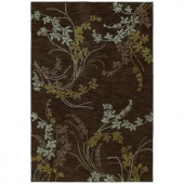 Kaleen Inspire Vision Chocolate 4 ft. x 6 ft. Area Rug